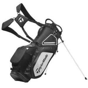 TaylorMade 8.0 Golf Stand Bag 2020 - Black/White/Charcoal