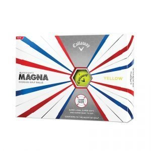 Supersoft Magna Golf Balls Yellow - Personalised